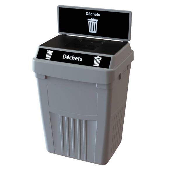 Station dechets recyclable poubelle corbeille FlexE 1D bin receptacle Nova Mobilier web