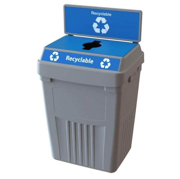 Station de déchets ou recyclage 1 voie