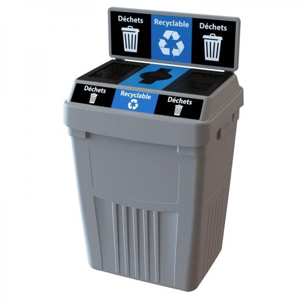 Station dechets recyclable dechets poubelle corbeille FlexE 3DRD bin receptacle Nova Mobilier web2