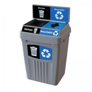 Station de déchets et recyclage 2 voies FlexE